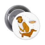 Comical Collie and Dachshund 6 Cm Round Badge