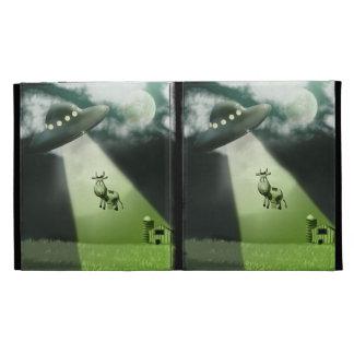 Comical UFO Cow Abduction Caseable Case iPad Folio Cases