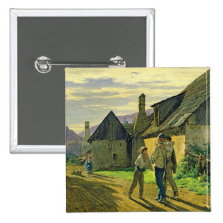 Coming home from the war, 1859 15 cm square badge