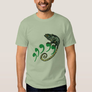Comma Chameleon Stone Green Adult Tee