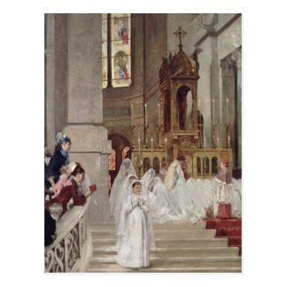Communion at the Church of the Trinity, 1877 Postcard