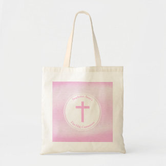 Communion Pink Watercolor Budget Tote Bag