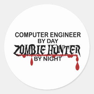 Comp Eng Zombie Hunter Round Sticker