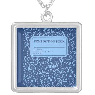 Composition Book/Student-Teacher Square Pendant Necklace
