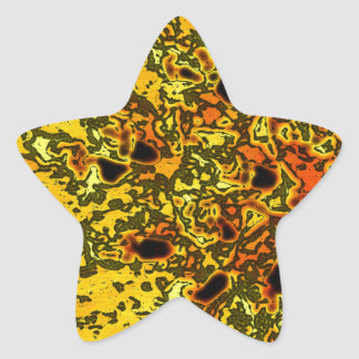 """""""ConchSalad"""" Beautiful yellow and oranges art Star Sticker"""