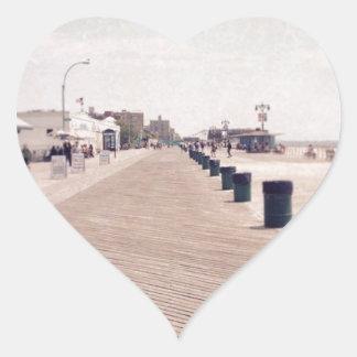 Coney Island Boardwalk Heart Sticker