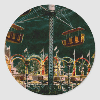 Coney Island Round Sticker