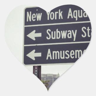 Coney Island Sign Heart Sticker