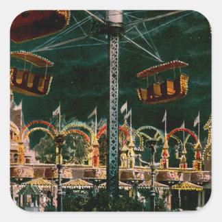 Coney Island Square Sticker