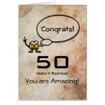 Congratulations 50 years in Business Greeting Card