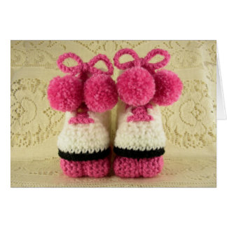 Congratulations Baby Girl (Roller Skates Booties) Greeting Card