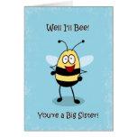 Congratulations Big Sister, Bumble Bee Card