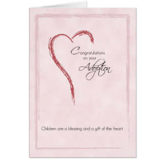 Congratulations on Adoption of Girl, Religious Greeting Card