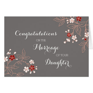 Congratulations Parents of the Bride Vintage Greeting Card