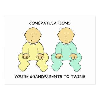 Congratulations, you're Grandparents. Postcard