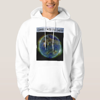 connect with the earth mens hoodie