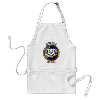 Connecticut Proud Flag Button Standard Apron