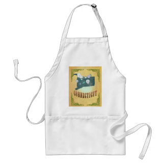 Connecticut State Map- Passion Fruit Yellow Standard Apron