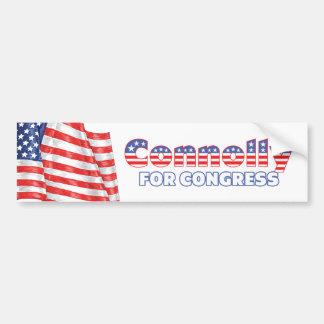 Connolly for Congress Patriotic American Flag Bumper Sticker