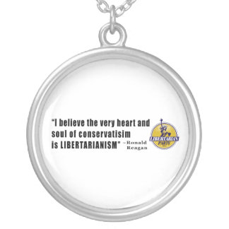 Conservatism Quote by President Ronald Reagan Round Pendant Necklace