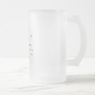 CONSERVATIVE FROSTED GLASS MUG