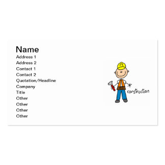 Construction Stick Figure Pack Of Standard Business Cards