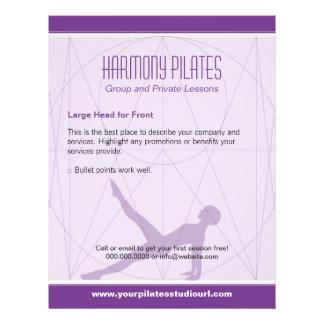 Convergent Lines Purple Pilates 21.5 Cm X 28 Cm Flyer