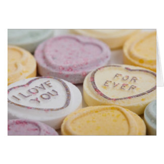 Conversation hearts candy I Love You Forever photo Greeting Card