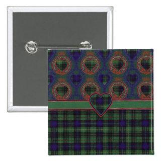 Cooke clan Plaid Scottish kilt tartan 15 Cm Square Badge