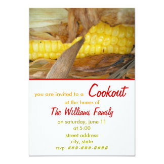 Cookout Invitation - Corn on The Cob