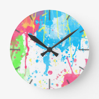 Cool awesome trendy colourful vibrant watercolours clocks