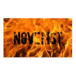 Cool Burning Fire Novelist Business Card
