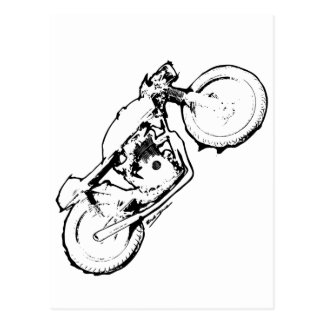 Cool Cafe Racer Motorcycle Drawing Postcard