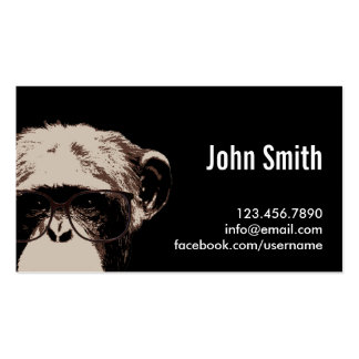 Cool Chimp in the Dark Profile Card Pack Of Standard Business Cards