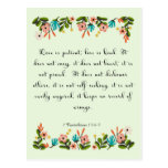 Cool Christian Art - 1 Corinthians 13:4-5 Postcard