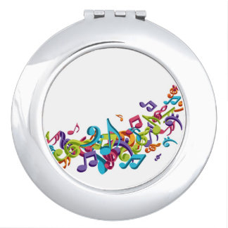 Cool Colorful  music notes & sounds music fashion Mirrors For Makeup