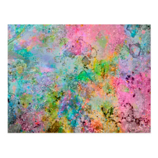 Cool colourful neon colours abstract marble image postcard