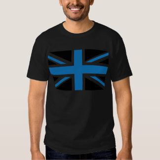 Cool Dark Blue Union Jack British(UK) Flag T-shirt