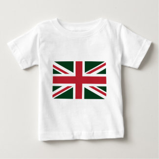 Cool Dark Green Red Union Jack British(UK) Flag Tees