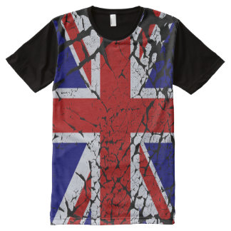 Cool Distorted Union Jack Flag of the UK All-Over Print T-Shirt