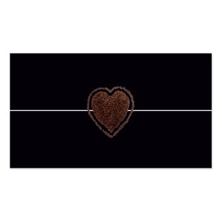 Cool Elegant Coffee Heart Modern / House-of-Grosch Pack Of Standard Business Cards
