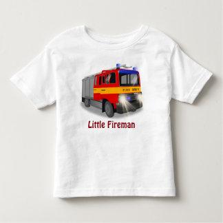 Cool Emergency Fire Engine Cartoon Design for Kids T-shirts
