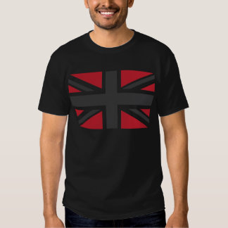 Cool Grey Red Union Jack British(UK) Flag T-shirt