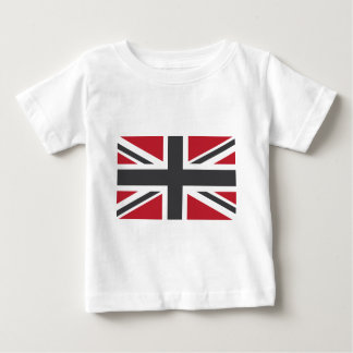 Cool Grey Red Union Jack British(UK) Flag Tee Shirt