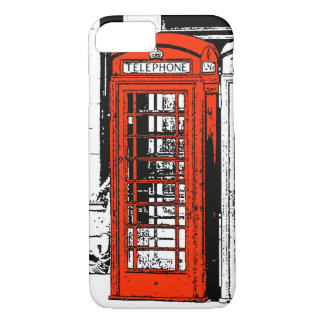 Cool Illustration Red London Phone Box iPhone 7 Case
