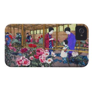 Cool japanese oriental flower garden people scene iPhone 4 case