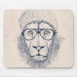 Cool lion mouse pad