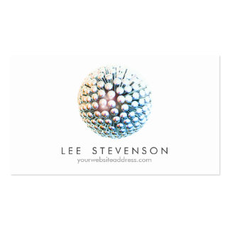 Cool Modern Silver Circles Sphere Pack Of Standard Business Cards
