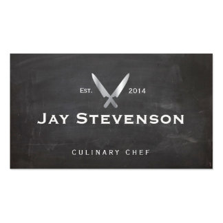 Cool Personal Chef Knife Black Catering Logo Pack Of Standard Business Cards
