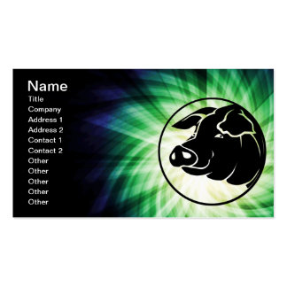 Cool Pig Head Pack Of Standard Business Cards